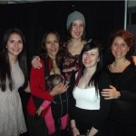 From left to right: Nilly Nourouzpour, Denise Henriques (with baby), Victoria Barkley, Holly Clayton, Simona Monaco